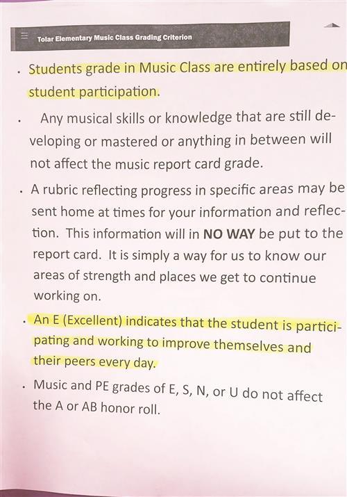 McAusland, Kim (E) Music / Classroom Expectations