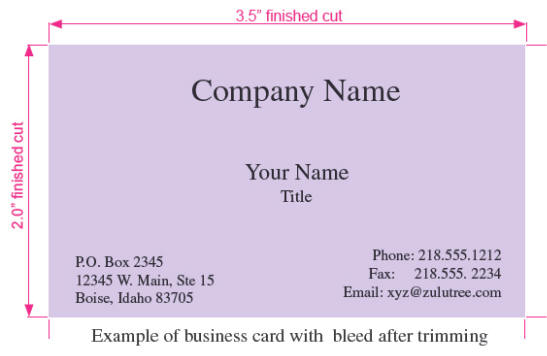 Printing Business Cards - name card example