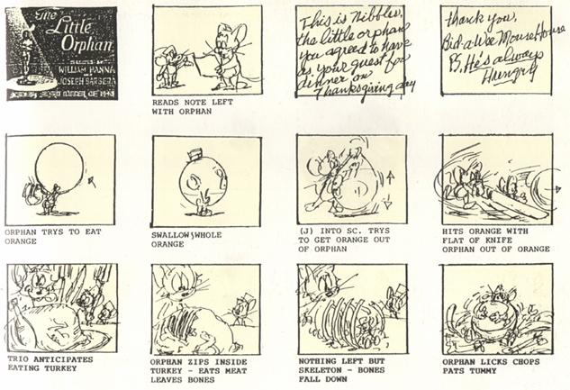 The Little Orphan - film storyboards