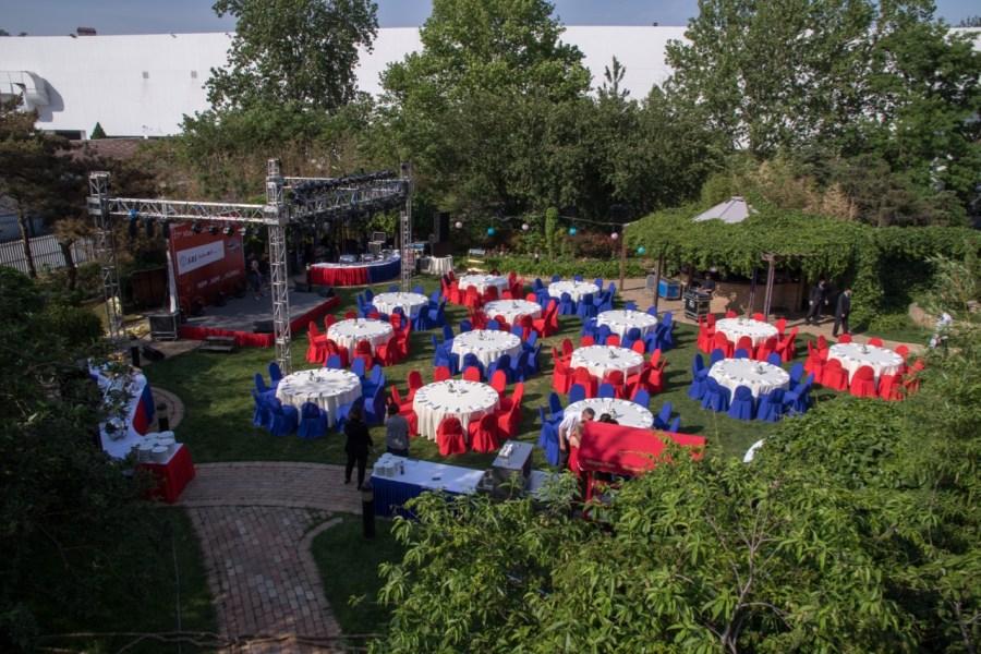 Radisson's Royal Garden var pyntet til fest
