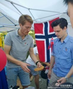 Tomas og Sondre fikser vafler