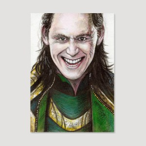 Loki Sketch Card by Tom Deacon