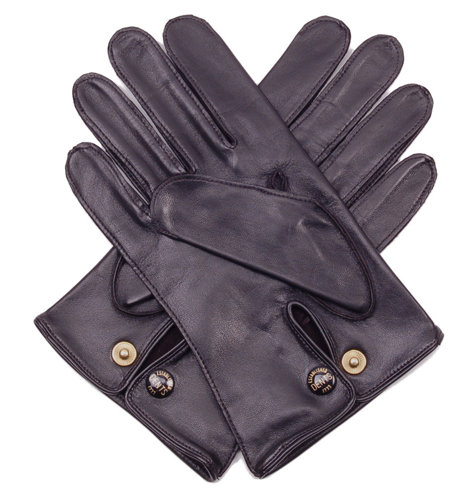 Dents leather driving gloves mens men s black leather professional driving gloves by dents