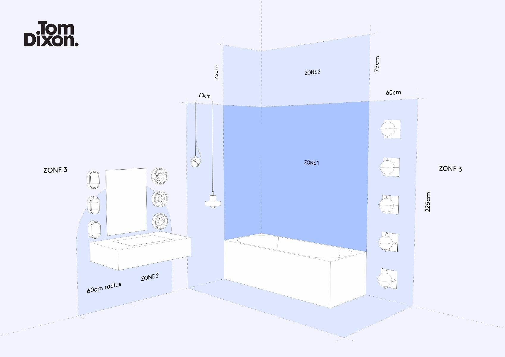 bathroom lighting zones. SaveEnlarge · Bathroom Lighting Zones