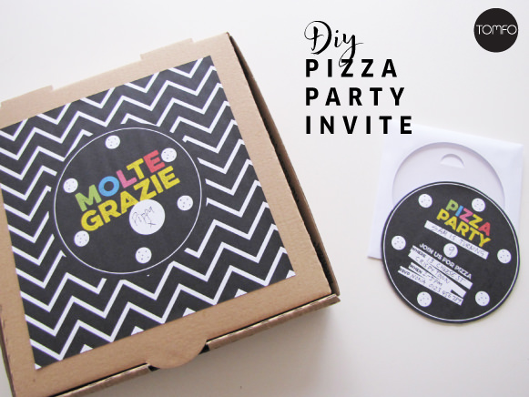 Free Pizza Party Invite Printable TOMFO