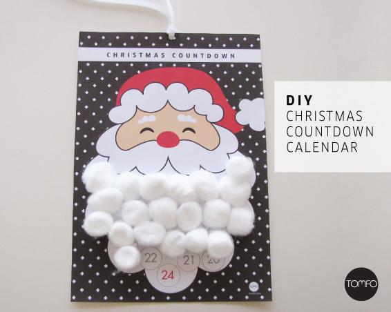 Santa\u0027s Beard Christmas Calendar Printable TOMFO