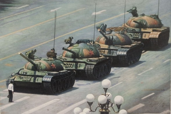 Tiananmen Square: Do you exclusively paint Thomas Kinkade paintings?