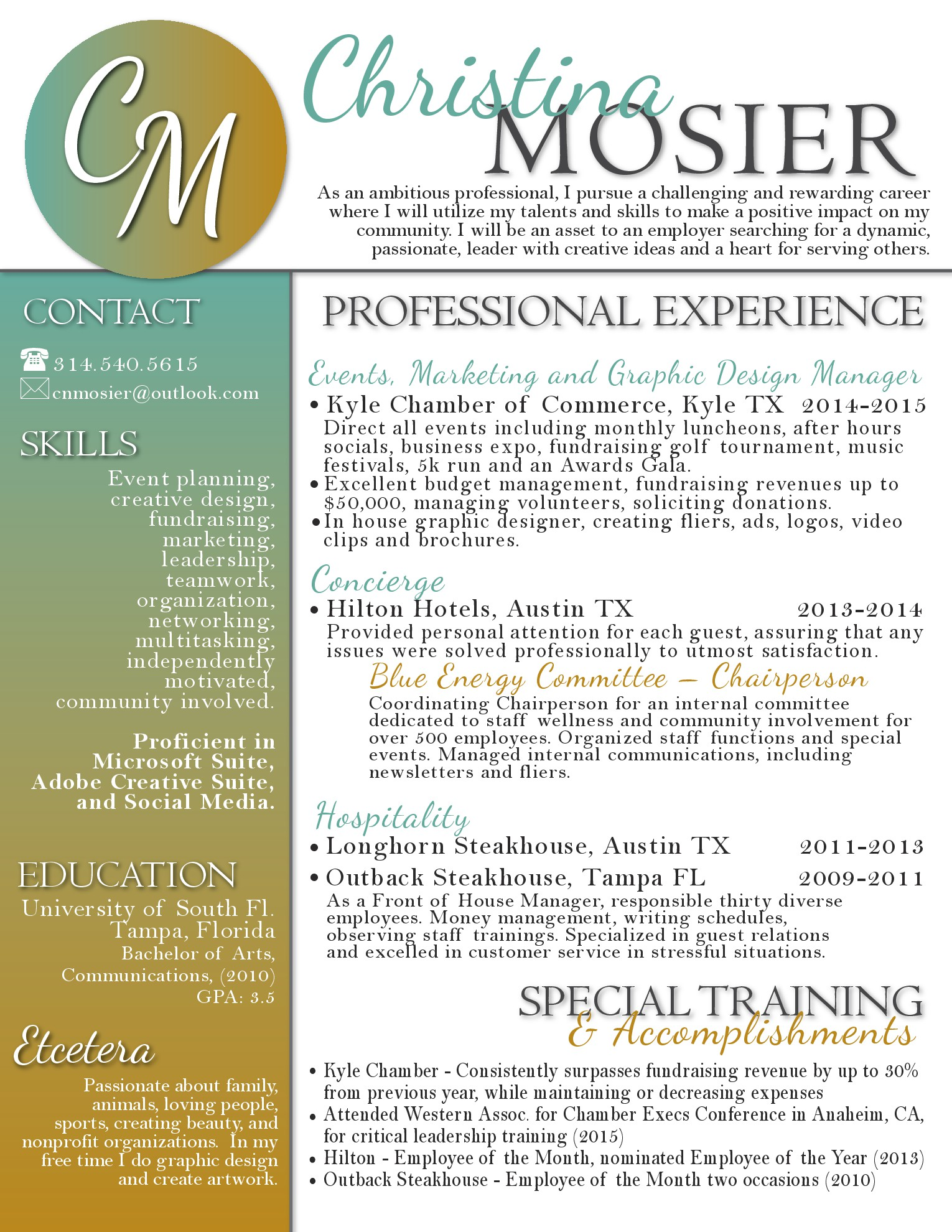 Resume Conference Coordinator Resume events coordinator resume termination template form cv christina mosier cv