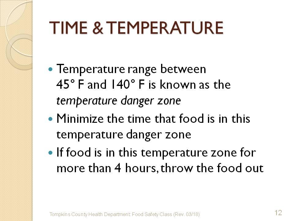 Temporary Food Training wwwtompkinscountynygov - food safety quiz