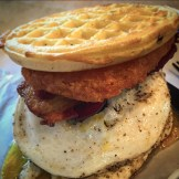 fat cow waffle burger