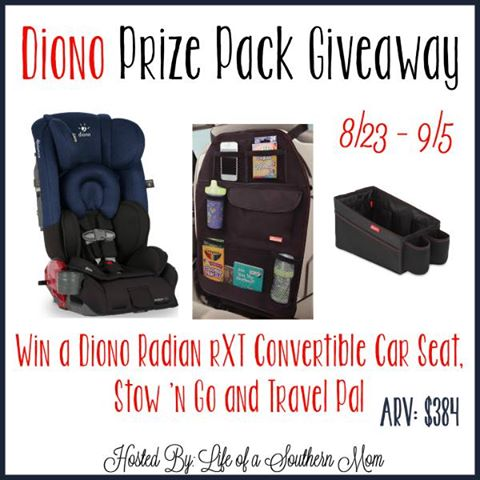 Win a Diono Convertible Car Seat and More! #dionoprizepack