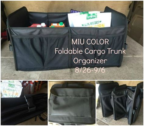 Get organized! MIU COLOR Cargo Trunk Organizer Giveaway