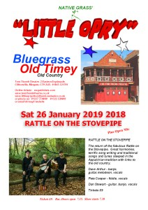 Little Opry Poster Sat 26 Jan2019 - RATTLE ON THE STOVEPIPE