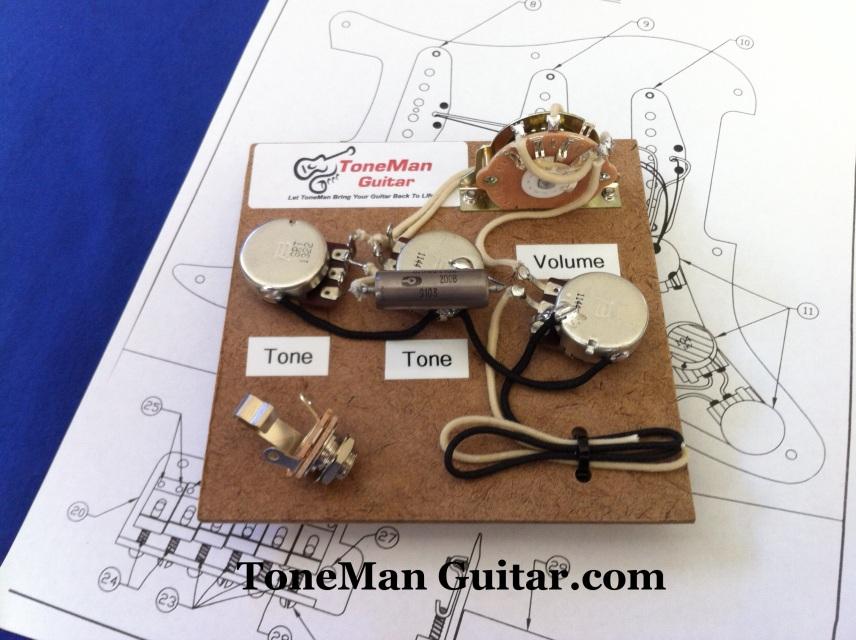 Stratocaster Premium Fender Prewired Wiring Harness Kit - Eric