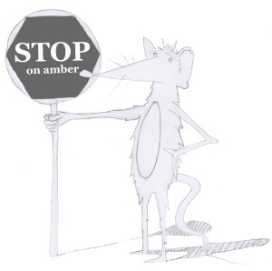Mouse with stop sign