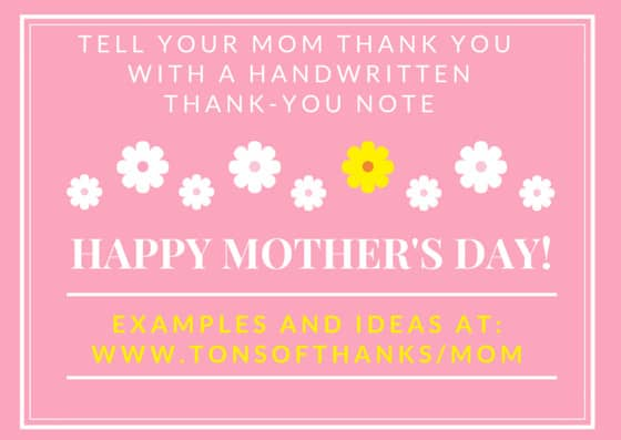Write a mother 39 s day thank you note to your mom for Things to make for your mom for mother s day