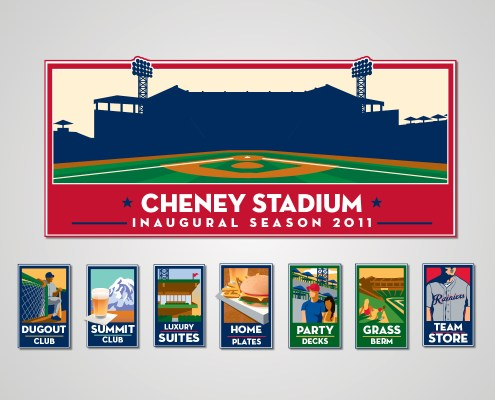 Cheney Stadium Icons
