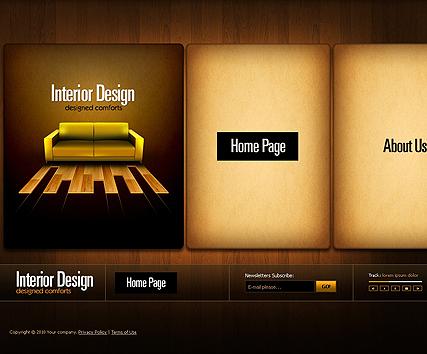 Interior Design website template - installation video - Tonytemplates