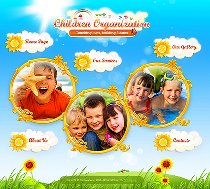 Children Organization Easy flash web template - Tonytemplates