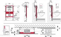 TECE profil wall-mounted toilet module with TECE cistern ...