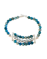Turquoise & Silver Bracelet (One Strand)