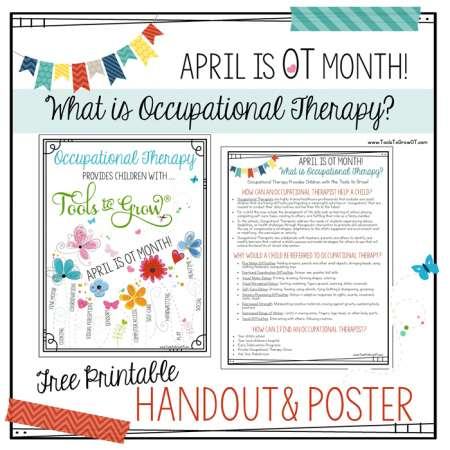 OT Month Holidays / Seasons /Themes Therapy Resources Tools To