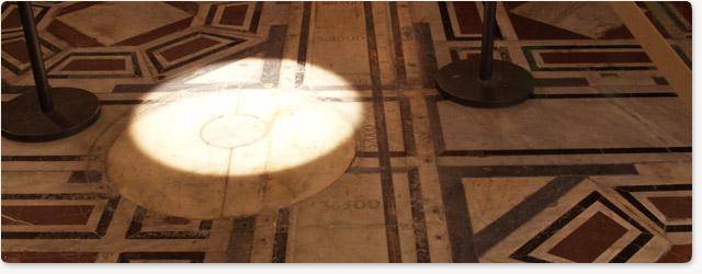 The Sun inside the Duomo