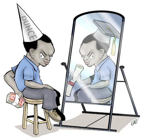Education and corruption By Damien Glez Politics Cartoon TOONPOOL