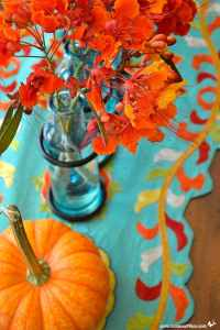 Turquoise and Orange: Summer to Fall Decorating Hack ...