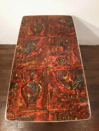 table basse vintage en formica et pieds compas