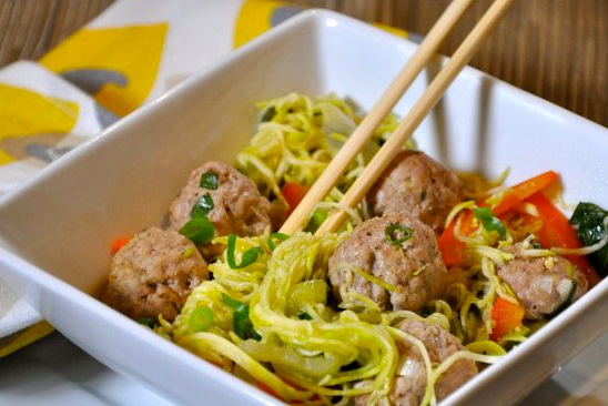 Top 10 super tasty meals ideas made with noodles for Zucchini noodles and meatballs recipe
