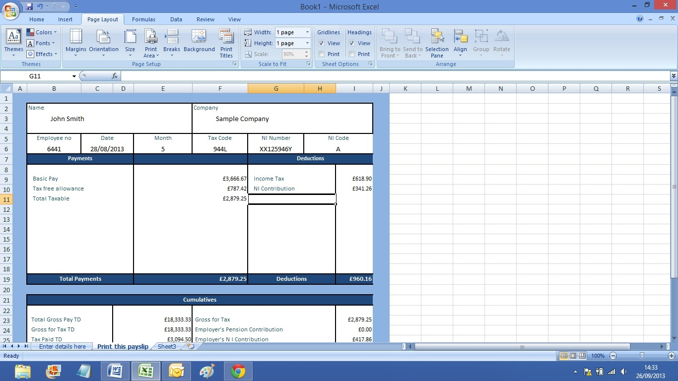 Payslip Template South Africa – Free Payslip Template South Africa