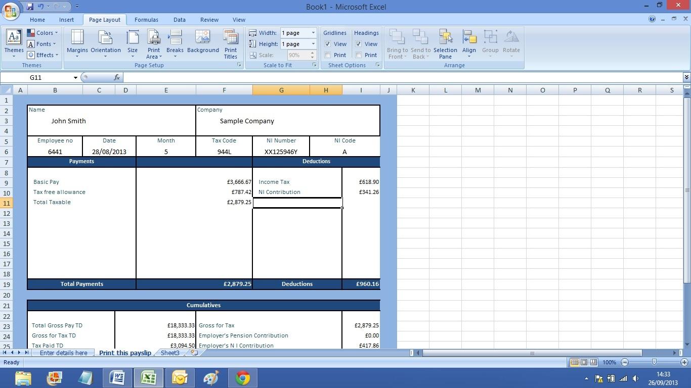 Resume Format Excel Sheet Download – Free Payslip Download