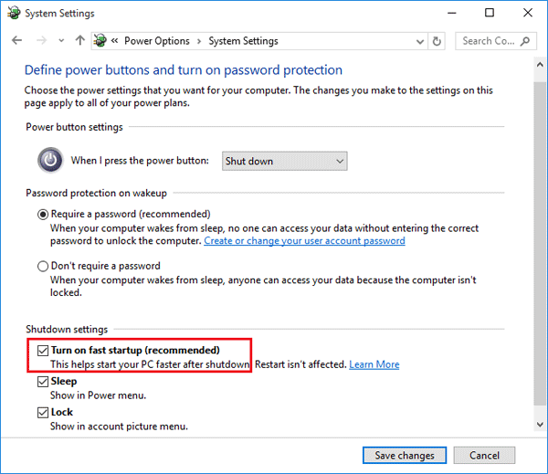 How To Turn On Or Off Fast Startup Missing In Windows 10