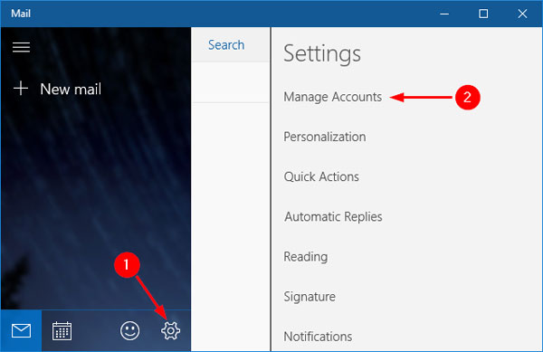 How to Add Email Account to Windows 10 Mail App Password Recovery