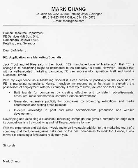 Cover Letter Example that gets job interviews