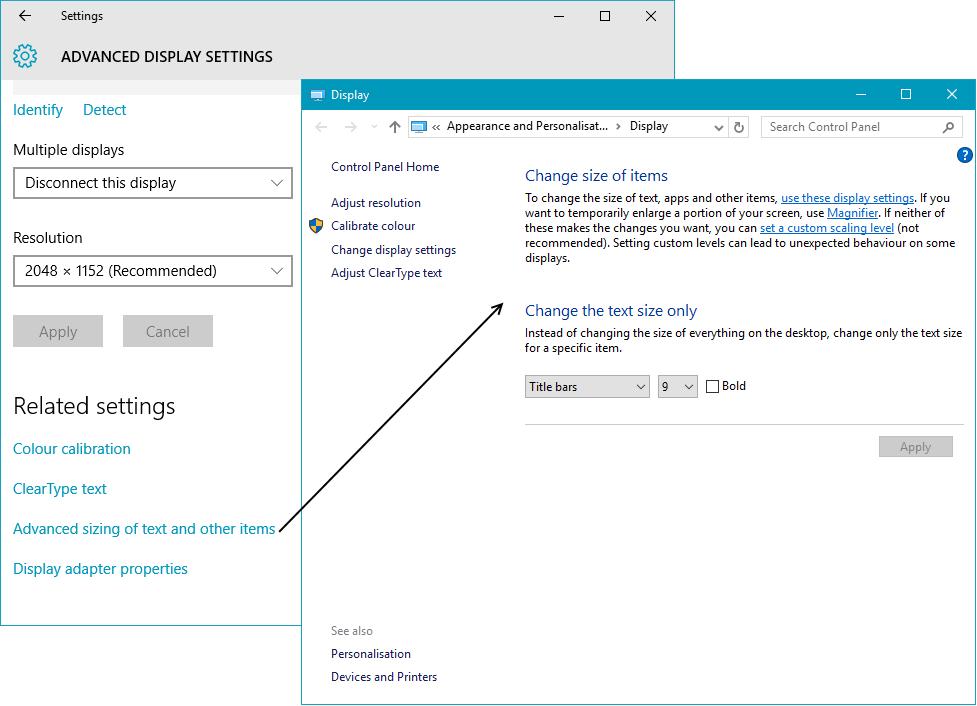 windows 7 how to change default font