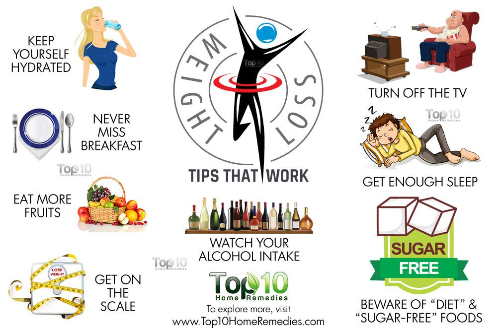 10 Proven Weight Loss Tips That Actually Work Top 10 Home Remedies - work tips