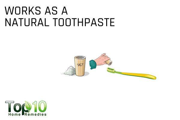 salt works as a natural toothpaste