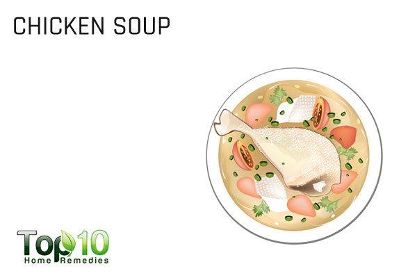 chicken soup for upper respiratory infection