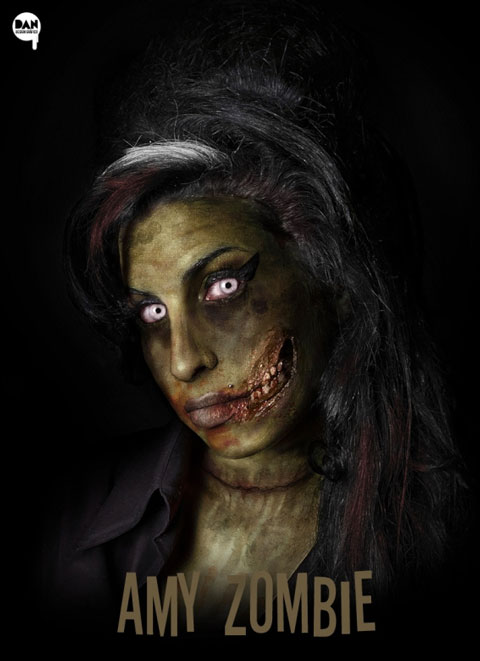 Anime Girl Funny Wallpaper Celebrities As Zombies
