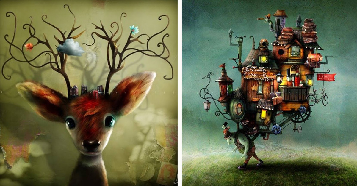 Cute Fairy Wallpaper 3d Magical Illustrations By Alexander Jansson Top13