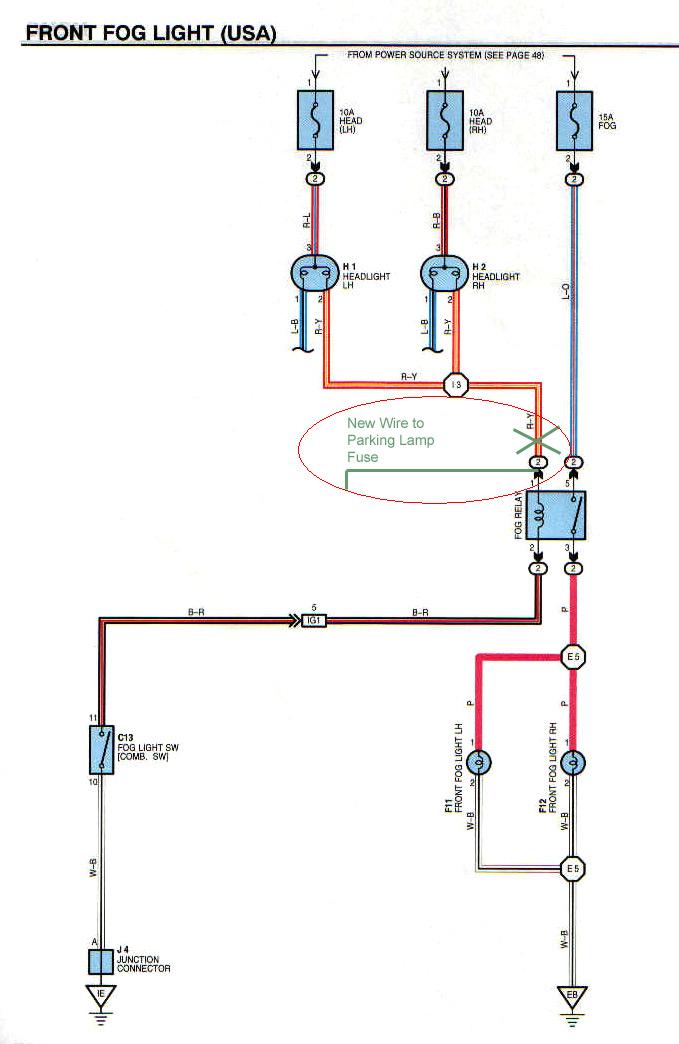 Factory Fog Lamp Re-Wire Mod - 3rd Gen 4Runner - YotaTech Forums