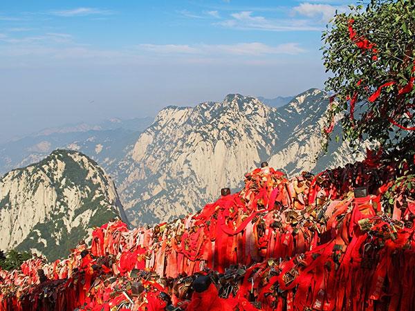 Huashan Mountain Shannxi Hiking Trails Tourist Map