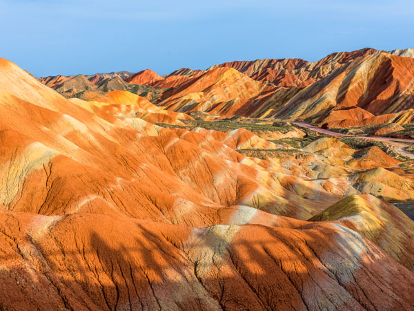 Land Form Rainbow Mountains Rainbow Mountains In Chinau0027S Danxia - land form