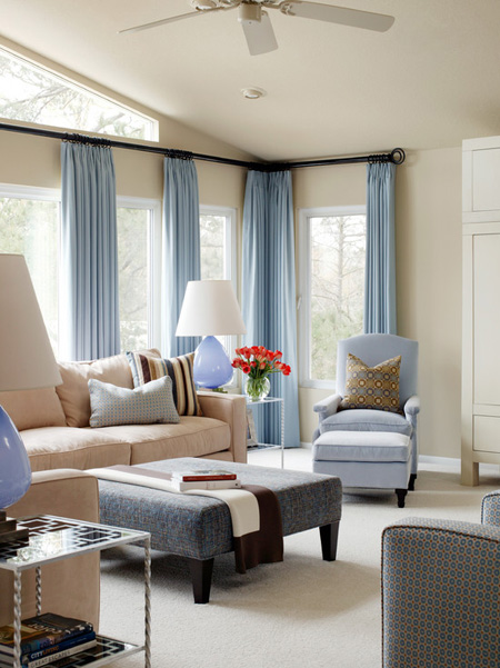 Modern Living Room Curtains Design - modern living room curtains