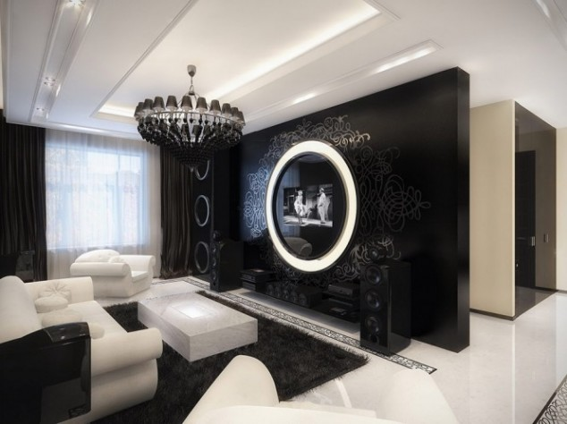 Inspire White And Black Living Room Designs - black and white living rooms
