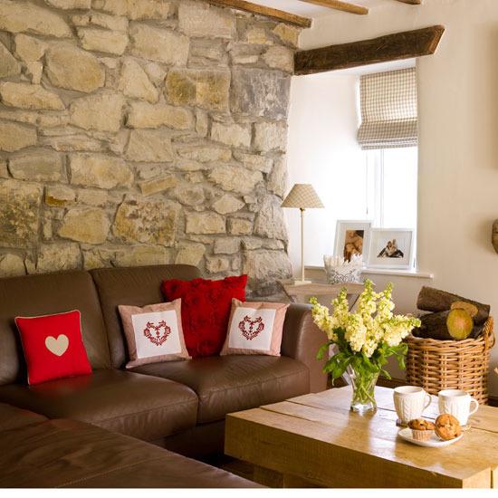 Wallpaper Batu Alam 3d 17 Cozy Country Style Living Room Designs