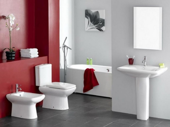 Modern Red Bathroom Designs - red bathroom ideas