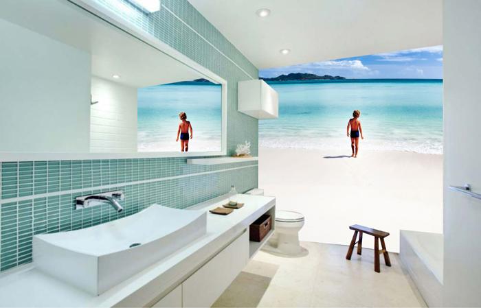 3d Beach Wallpaper For Walls Impressive Wall Murals For Your Bathroom